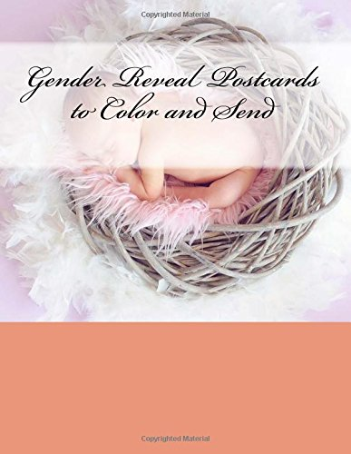 9781537524214: Gender Reveal Postcards to Color and Send: The Adult Coloring Book of Cards