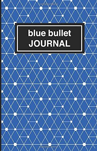 9781537524450: Blue bullet Journal - Cuaderno de puntos azul estampado: Tapa blanda, 14 x 21 cm, 200 paginas (Spanish Edition)