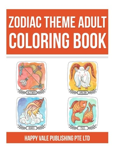 9781537544519: Zodiac Theme Adult Coloring Book