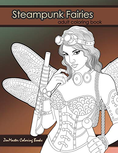 9781537553122: Steampunk Fairies Adult Coloring Book: Erotic ...
