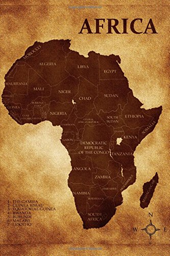 9781537561509: Map of Africa Journal: 150 page lined notebook/diary