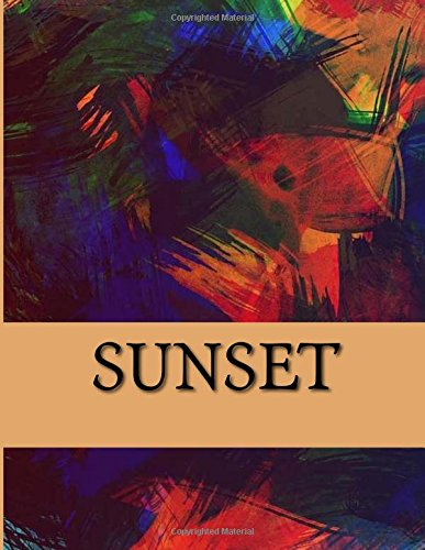 9781537567273: Sunset: Notebook AND Color-Your-Own Greeting Cards Set