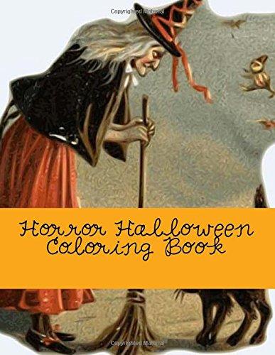 9781537587349: Horror Halloween Coloring Book: Coloring Book for Grownups