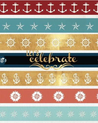 9781537602561: Let's Celebrate: All Occasions: Gold, Red, Blue & Black Stripes| Message Book |Keepsake | Memorabilia for Friends & Family to write in, 50 blank pages, 8x10in