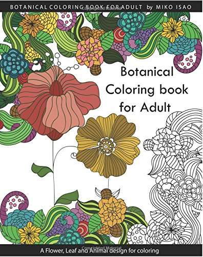 Miko Isao Botanical Coloring Book Adults Flower Abebooks