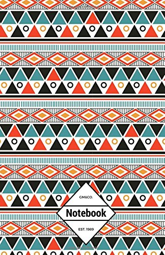 """9781537699776: GM&Co: Notebook Journal Dot-Grid, Lined, Graph, 120 pages 5.5""""x8.5"""": Aztec Tribe Ancient Asian Eygpt (Aztec Texture Notebook) (Volume 3)"""