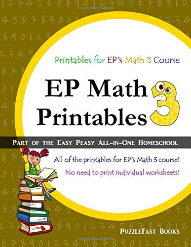 9781537712628: EP Math 3 Printables: Part of the Easy Peasy All-in-One Homeschool