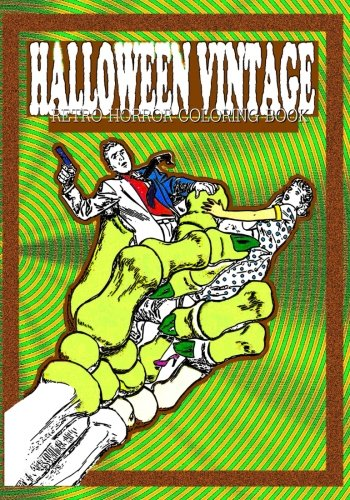 9781537712994: Halloween Vintage: Retro Horror Coloring Book