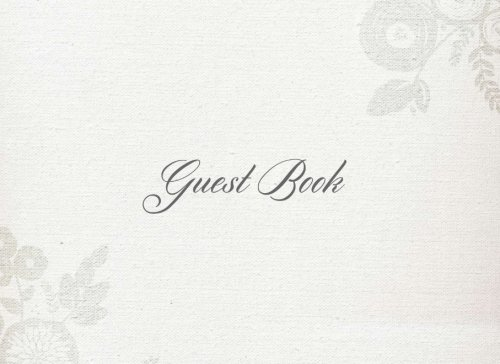 9781537735702: Guest Book: Grey Flower Design  All Occasions   Guest Book  Keepsake   Memorabilia for Friends & Family to write in for birthdays, graduations, ... memorials and more, 50 blank pages, 8.25x6in