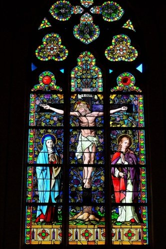 9781537760957: Stained Glass Window in a Church Journal: 150 Page Lined Notebook/Diar