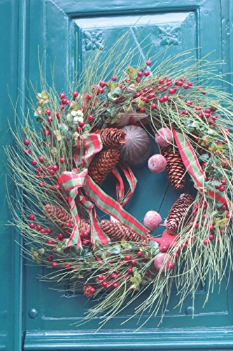 9781537778419: Christmas Wreath on Door Journal: 150 page lined notebook/diary