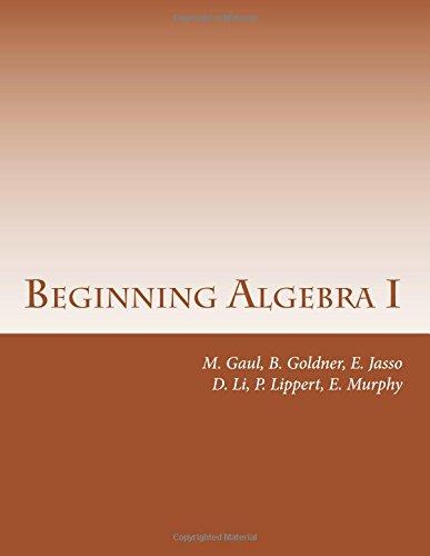 9781537796574: Beginning Algebra I