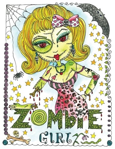 9781539010166: Zombie Girl Coloring Book: Zombie Girl Coloring book