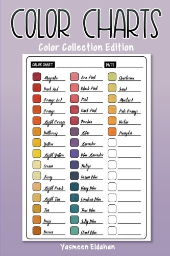 9781539013150: Color Charts: Color Collection Edition: 50 Color Charts to record your color collection all in one place