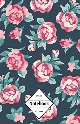 """9781539026457: GM&Co: Notebook Journal Dot-Grid, Lined, Graph, 120 pages 5.5""""x8.5"""": Wild Roses"""
