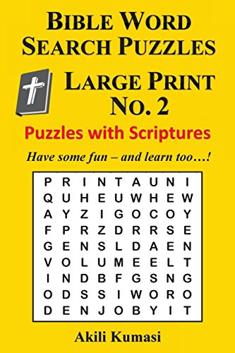 9781539035046: Bible Word Search Puzzles, Large Print No. 2: 50 Puzzles with Scriptures (Volume 2)