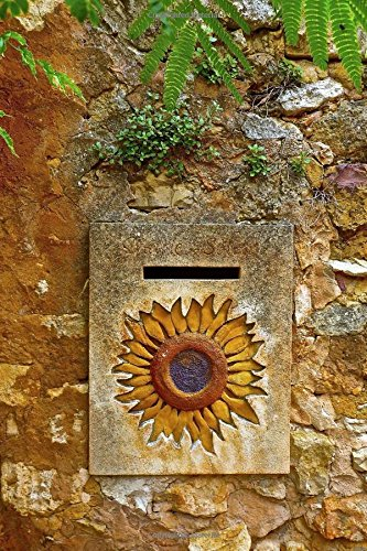 9781539068310: Vintage Letterbox With a Sunflower Design Journal: 150 Page Lined Notebook/Diary