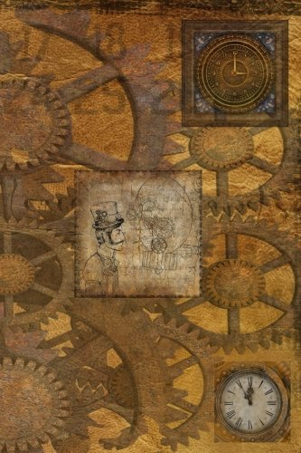 9781539074557: Steampunk: JOURNAL LOG DOODLE SKETCH DRAWING NOTE BOOK NO LINES UNRULED 6