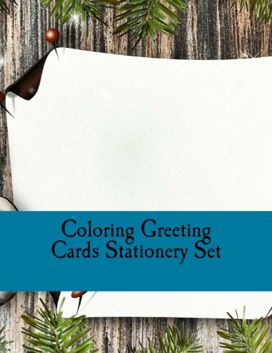 9781539133674: Coloring Greeting Cards Stationery Set: Color Your Own Christmas Cards