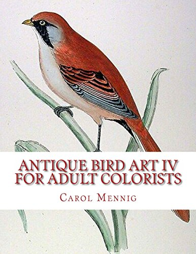9781539457466: Antique Bird Art IV - For Adult Colorists: 4