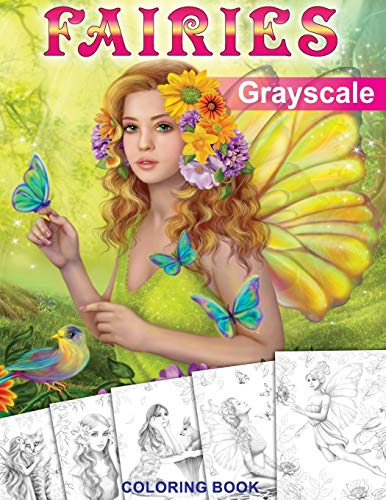 9781539632856: Fairies. GRAYSCALE Coloring Book: Coloring Book for Adults