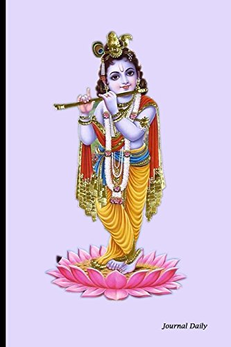 Journal Daily: Krishna Playing a Flute, Indian: Blank Journal Notebook