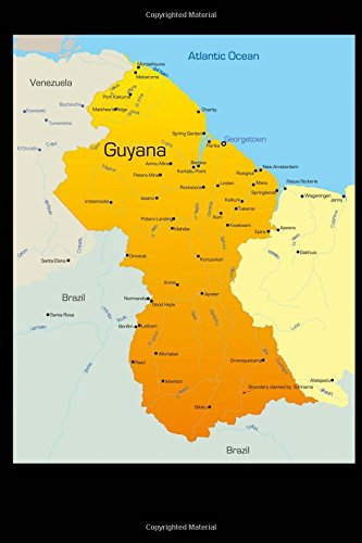 Map of Guyana Journal: 150 Page Lined: Image, Cool
