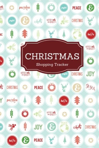 9781539876496 christmas shopping tracker wrapping paper cover