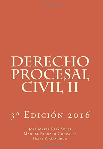 9781540312495: Derecho Procesal Civil II: Volume 2