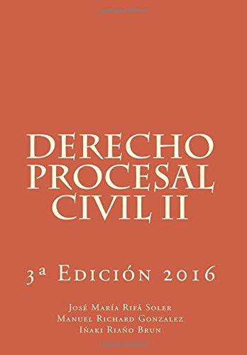 Derecho Procesal Civil II: Gonzalez, Manuel Richard