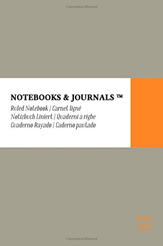 Cuaderno Notebooks & Journals, Pocket, Rayado, Gris,: Journals, Notebooks and