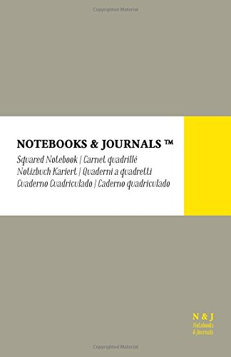Cuaderno Notebooks & Journals, Large, Cuadriculado, Gris,: Journals, Notebooks and