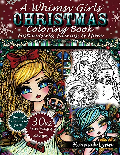 9781540444059: A Whimsy Girls Christmas Coloring Book: Festive Girls, Fairies, & More