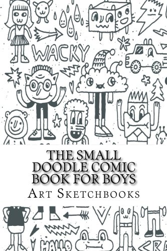 """The Small Doodle Comic Book for Boys: Staggered, 6"""" x 9"""", 100 Pages (Activity Drawing &..."""