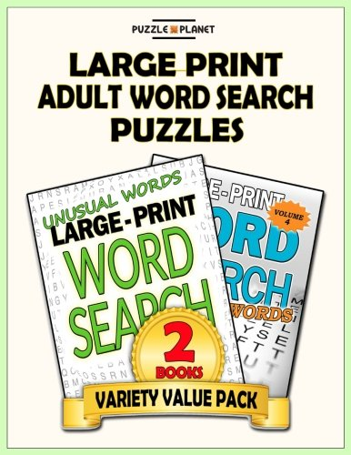 Large Print Adult Word Search Puzzles: Word Search Puzzle Books Value Pack (Puzzle Books Value ...