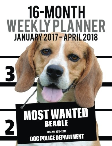 Most Wanted Beagle 2017-2018 Weekly Planner - 16 Month: Large (11 X 8.5-Inches) Daily Diary Monthly...