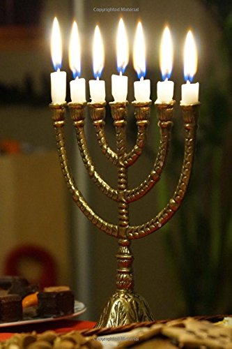 A Gold Hanukkah Menorah with Lighted Candles: Creations, Cs