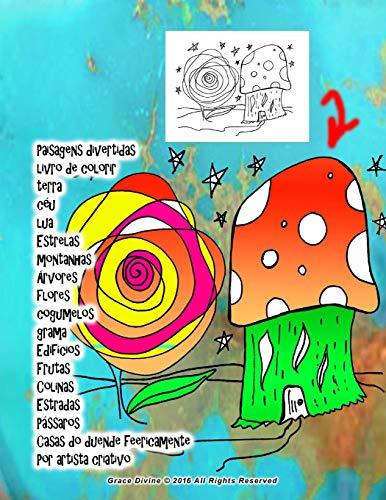 Paisagens divertidas livro de colorir terra c?u: Divine, Gra ce