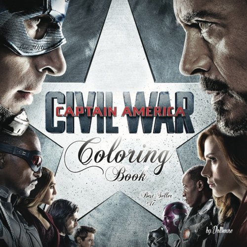 17 Coloring Book Captain America Civil War: best seller, anxiety and stress relief, serenity and ...
