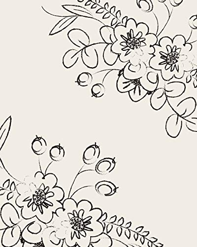 Bullet Grid Journal: Floral Corners, 150 Dot Grid Pages, 8x10, Professionally Designed: Creative ...