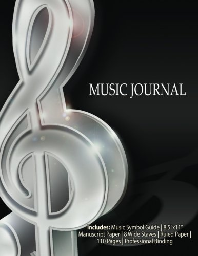 Music Journal-7 Songwriting Notebook: Manuscript & Ruled: Nature, Indie By;