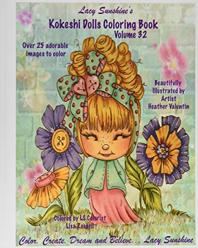 Lacy Sunshine's Kokeshi Dolls Coloring Book Volume: Valentin, Heather