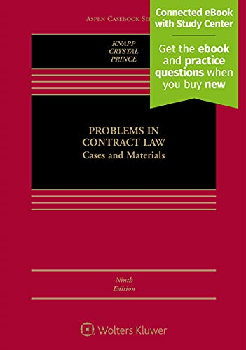 9781543801477: Problems in Contract Law: Cases and Materials [Connected Casebook] (Aspen Casebook)