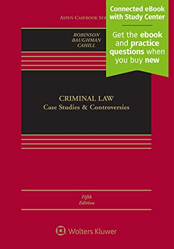 9781543809015: Criminal Law: Case Studies and Controversies [Connected Casebook] (Aspen Casebook)