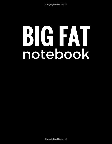 Big Fat Notebook (300 Pages): Black, Large Ruled Notebook, Journal, Diary (8.5 x 11 inches) (Daily ...