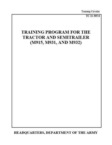 Training Circular Tc 21-305-6 Training Program for: Us Army, United