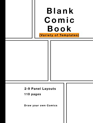 Blank Comic Book : Variety of Templates,: Comic Drawing Books