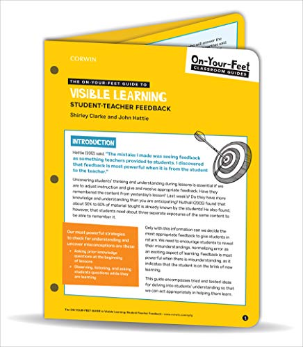 9781544383439: The On-Your-Feet Guide to Visible Learning: Student-Teacher Feedback (On-Your-Feet-Guides)
