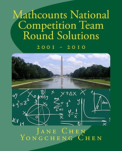 Mathcounts National Competition Team Round Solutions 2001: Chen, Jane
