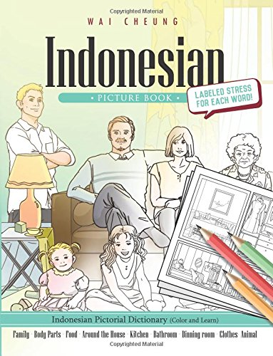 9781544907529: Indonesian Picture Book: Indonesian Pictorial Dictionary (Color and Learn)